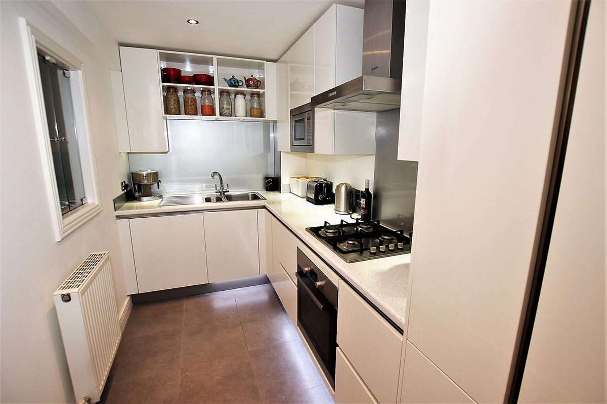 2. Small white kitchen layout Copy - Arthur Anthony Interiors, Chelmsford