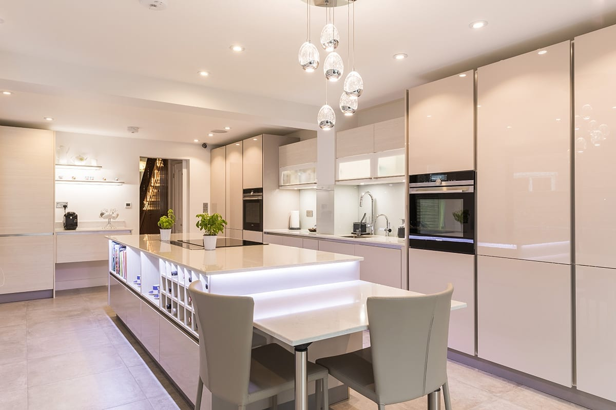 2. Cashmere gloss lacquer kitchen finish - Arthur Anthony Interiors, Chelmsford