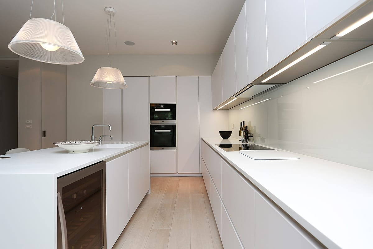 Under cabinet strip LED Lighting - Arthur Anthony Interiors, Chelmsford